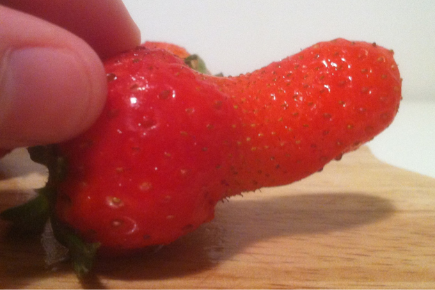 strawberry with penis