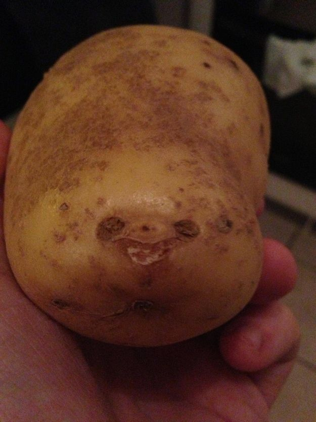 potato creature with face