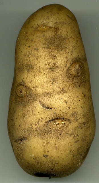 potato with long face